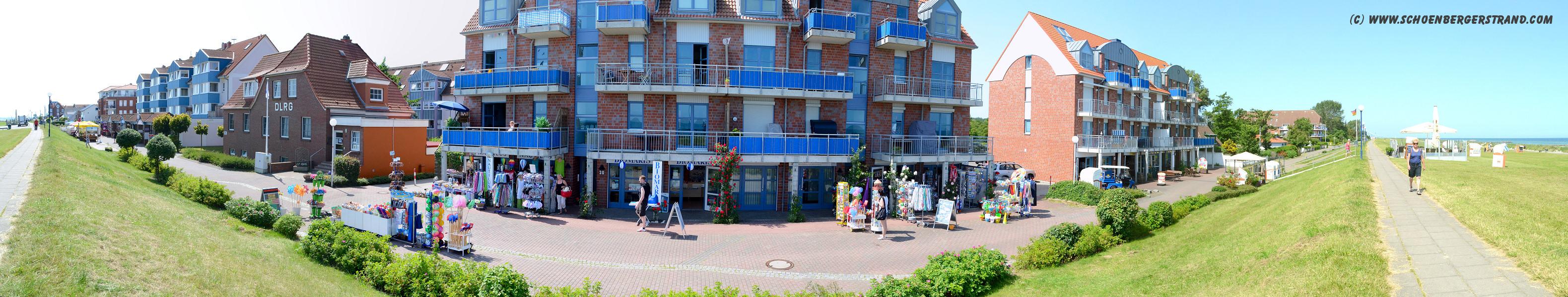 Ladenzeile an der Seebrücke Schönberger Strand III