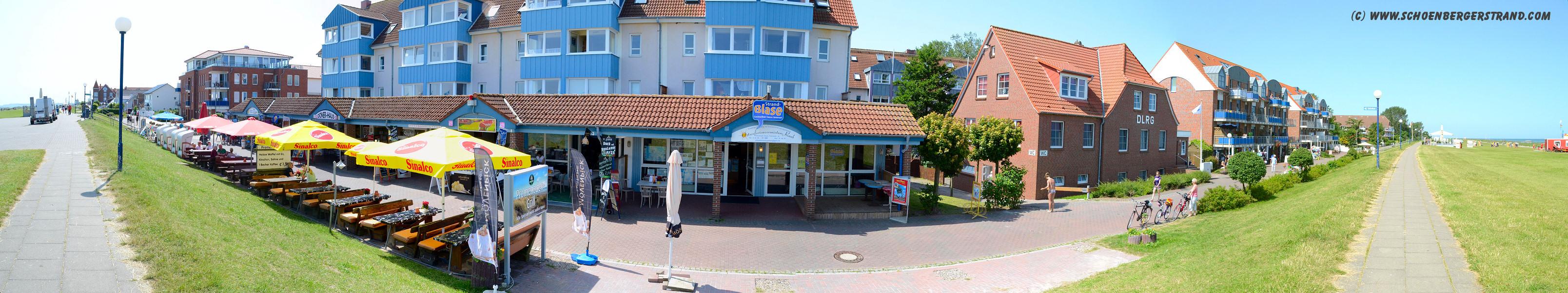 Ladenzeile an der Seebrücke Schönberger Strand II