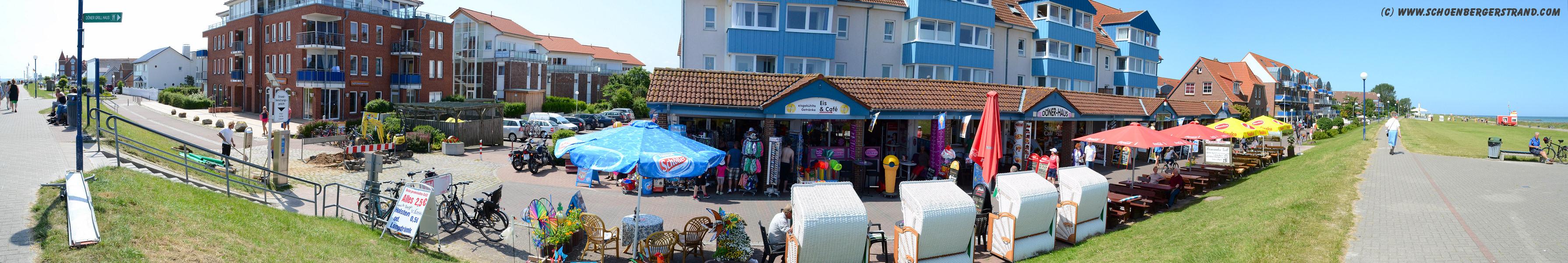 Ladenzeile an der Seebrücke Schönberger Strand I